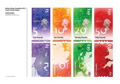 Graphic Design Class Assignment Inspiration: UK Currency Re-Design by Tom Bourke, via Behance