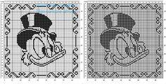 Baby Pillow with Disney Scrooge McDuck free crochet filet pattern Bobble Crochet, Crochet Art, Crochet Home, Filet Crochet, Baby Patterns, Crochet Patterns, Cross Stich Patterns Free, Cross Stitch Fairy, Scrooge Mcduck