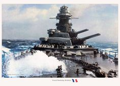 The guns of battleship Richelieu