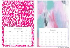 Free 2015 printable 5 x 7 desktop calendar. Just print on white thick card stock. The Creativity Exchange