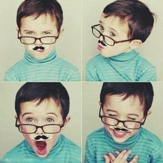 Funny kids during #Movember #mustache