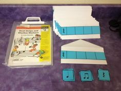 Beat Strips and Rhythm Cards- Students can compose their own rhythms. They can get in small groups and make longer rhythmic phrases by lining up more than one envelope. Elementary Music Lessons, Music Lessons For Kids, Music Lesson Plans, Music For Kids, Piano Lessons, Elementary Schools, Music Classroom, Music Teachers, Classroom Ideas