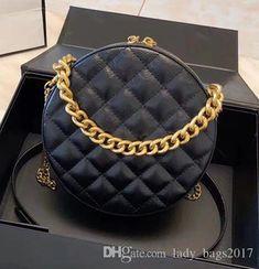 Classic Fashion Flap Bag Round Plaid Chain Bags Girls Cute Chain Bag  Cosmetic Bag Designer Handbag Purse Small Round Crossbody Shoulder Bags  Fashion ... b45471efb2