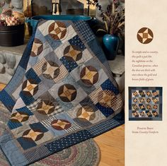 Martingale - At Home with Country Quilts 2014 Calendar Primitive Quilts, Antique Quilts, Vintage Quilts, Star Quilts, Scrappy Quilts, Charm Quilt, Quilt Patterns, Quilting Ideas, Quilting Patterns