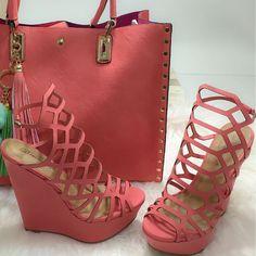 Cutout Platform Slingback Wedge Sandals