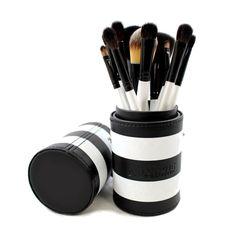 Morphe 12-piece Black and White Travel Brush Set