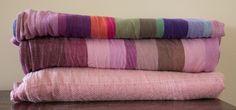 Girasol Aurora, Purple Weft 2 (cotton) top, Girasol Hanami 6 (cotton), Didymos Puder Silk Indio 5 (silk/cotton) bottom