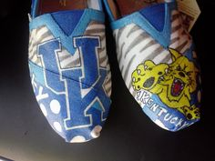 Not a ky fan but I love the TN 1's!!  Kentucky Wildcats hand painted TOMS by MyHeartToYourSole on Etsy, $105.00