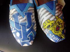 Kentucky Wildcats hand painted TOMS. LOVE.