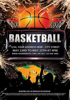 Download our free basketball flyer psd template and appreciate its high quality and impressive design. #basketball #sport #competition #event #ball