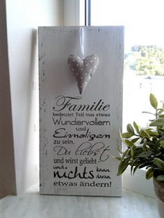 Holzschild - Familie