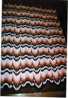 Crochet Afghans Ideas Navajo Bargello - only place I found the pattern was in a book. 40 Favorite Ripple Afghans by Leisure Arts Chevron Crochet Patterns, Crochet Stitches Patterns, Afghan Crochet Patterns, Crochet Motif, Easy Crochet, Crochet Hooks, Crochet Blankets, Free Crochet, Crochet Summer