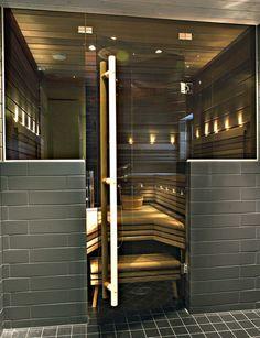 Calor saunan lasiseinä (ovi vasenkätinen + ikkuna oikealla), pronssi lasi - Sisusta Lasilla