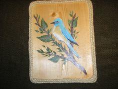 Blue Bird Painting Hand Painted Blue Bird by LisasPaintedCrafts