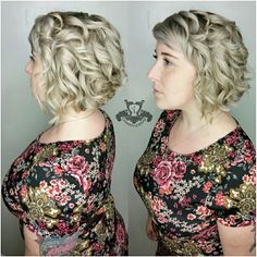 Icy Blonde Tones❄ Shaved Undercut with Curls - http://sarasotabradentonhairsalon.com/icy-blonde-tones%e2%9d%84-shaved-undercut-curls/