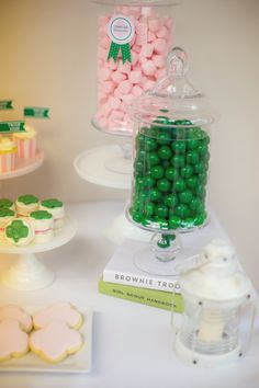 Dessert table details from a Glam Girl Scout Mother Daughter Luncheon via Kara's Party Ideas | KarasPartyIdeas.com (20)