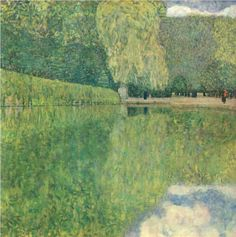 Park of Schönbrunn ~ Gustav Klimt, c.1916. Oil on canvas  #art #painting #landscape
