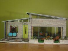 Mid Century Modern Dollhouse | Midcentury Modern Dollhouse