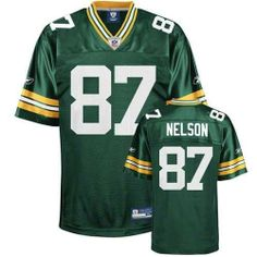 New Authentic Green Bay Packers Jordy Nelson Reebok Jersey Size 50 (Large) by Reebok. $40.00. Authentic NFL equipment logo embroidered on neck, Team Logo embroidered on chest or sleeves. Drop tail, Rib knit collar,100% Nylon, knit trim 100% Polyester. Dazzle shoulders, sleeves & sides. Stitched name plate, Stitched lettering, numbers & logos. Heavy weight mesh body. Jordy Nelson fans,Gear up to show your support for Nelson and the Packers with this Authentic Jersey.  All lett...
