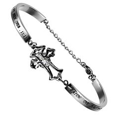 Women's CZ Cross Bracelet - Faith on SonGear.com - Christian Shirts, Jewelry