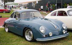 1957 Porsche 356 Coupe - Aqua Marine Blue - fvr --- Steve McQueen Show 076 by Pat Durkin - Orange County, CA, via Flickr