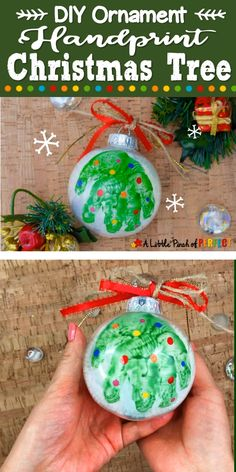 Clear Christmas Ornaments, Christmas Diy, Diy Ornaments For Kids, Crafty Christmas Gifts, Cheap Christmas Crafts, Christmas Garden, Xmas, Christmas Handprint Crafts, Christmas Crafts For Toddlers