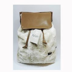 Faux Fur & Faux Leather Winter Backpack