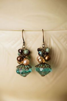 Crisp Autumn Gemstone Cluster Earrings