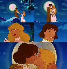 Odette and Derek from The Swan Princess