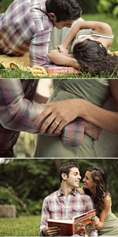 cute engagement shoot