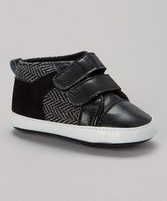 Loving this Adorababy Black Zigzag Double-Strap Sneaker on #zulily! #zulilyfinds