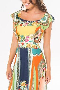 vestido longo ilmi | FARM