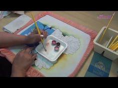 Pintando com Márcia Spassapan - Rosas com Pássaros | Técnica com Stencil - YouTube