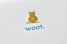 Letterpress Woot Owl Congratulations or Hello card and envelope Typography, Lettering, Calligraphy Letters, Card Envelopes, Brand Packaging, Cute Cards, Baby Cards, Letterpress, Congratulations