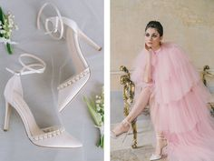 15 Wedding Shoes For the Fine Art Bride Wedding Shoes Heels, Bride Shoes, Polka Dot Pumps, Lace Booties, Tulle Bows, Bride Look, Brides And Bridesmaids, Bridal Style, Wedding Bride
