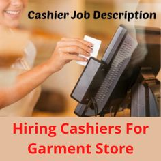 """Hiring male or female """"Cashiers"""" for a garment store. The work location is in Hyderabad. The post Hiring Cashiers for a garment store appeared first on Jobs and Auditions."""