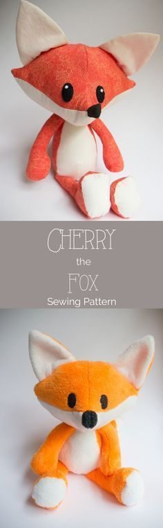 Jun 13 It's Here! The free Cherry the Fox Pattern free fox sewing pattern with complete tutorial included Easy Sewing Projects, Sewing Projects For Beginners, Sewing Crafts, Sewing Tutorials, Sewing Hacks, Sewing Basics, Free Tutorials, Fox Pattern, Plush Pattern