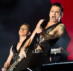 Dave Gahan and Martin Gore of Depeche Mode, Gahore photo by Debi Del Grande at the ACL