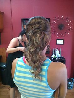 ponytail updo formal prom style  wedding hair *All About You* Hair by Brandy Bilbrey 615-792-8817