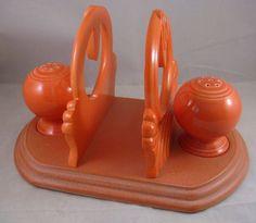 Fiesta Ware Vintage Fiesta Deco Napkin Holder Shakers | eBay