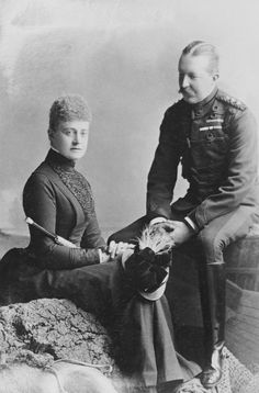 Princess Frederica of Hanover and her husband, Baron von Pawel-Rammingen. May 1887.