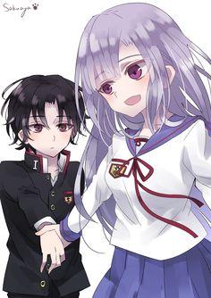Guren Ichinose and Mahiru Hiiragi