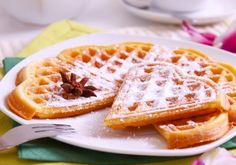 Waffles: 2 cups Flour 1 pinch baking powder 1 cup milk cup sparkling water 1 stick butter cup sugar 1 tsp vanilla extract 3 eggs (seperate yolks and beat whites) 1 pinch salt Stick Of Butter, Sweet Recipes, Waffles, Vanilla, Eggs, Sugar, Cooking, Breakfast, Desserts