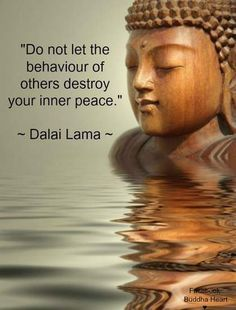 Do not let the behavior of others destroy your inner peace - Dalai Lama Yoga. Motivacional Quotes, Life Quotes, Peace Quotes, Success Quotes, Funny Quotes, Wisdom Quotes, Motivational Sayings, Yoga Inspirational Quotes, Attitude Quotes