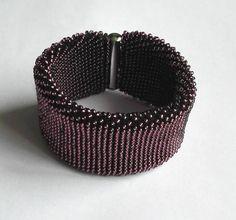 Beaded bracelet purple bracelet gift for her Bold Jewelry
