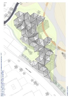This enclosed pavilion and surrounding park is situated on a site bordered by the Júcar and Moscas Rivers and the historic Spanish city of Cuenca. Architecture Site Plan, Parametric Architecture, Architecture Concept Drawings, Brick Architecture, Pavilion Architecture, Historical Architecture, Sustainable Architecture, Contemporary Architecture, Pavilion Design