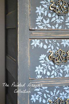 farmhouse stenciled dresser