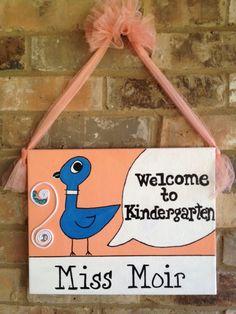 Teacher Door Hanger- book themed