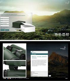Peschkedesign — Naturerlebnis im Web - Swarovski Optik EL Range Interface Design, Communication Design, Ui Ux, App Development, Industrial Design, Swarovski, Range, Product Design, Cookers