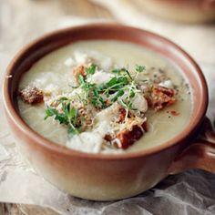 Pyszna zupa krem selerowa z oliwą truflową